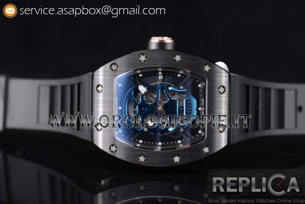 Richard Mille RM052 PVD Orologio Cinturino in Gomma