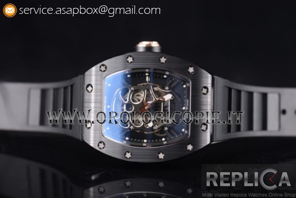 Richard Mille RM052 Orologio Cinturino in Gomma PVD