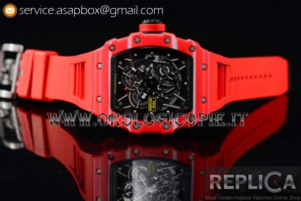 1:1 Richard Mille RM 35-02 RAFAEL NADA Orologio RM 35-02 PVD Rosso
