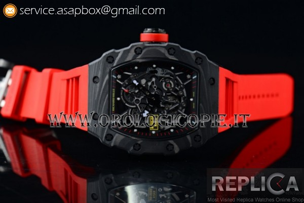 1:1 Richard Mille RM 35-02 RAFAEL NADA Orologio RM 35-02 PVD Scheletro Rosso