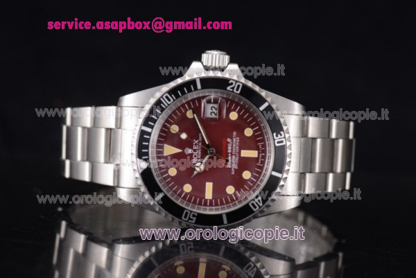 Rolex Tropical Red Submariner Vintage 1680 Orologio